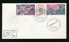 ANTARCTIC FRANCE 1975 SOVIET JOINT MAGNETOSPHERE STRIP FIRST DAY COVER