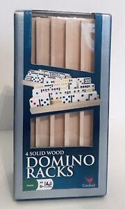 Cardinal Domino Racks 4 Solid Wood Domino Train Holder Racks - NEW in Box