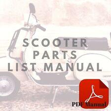 Honda NH80 1985 Aero 80 Parts List Scooter Manual