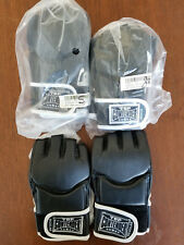 Top Contender Grappling Gloves Black Open Thumb