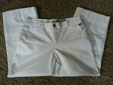 Women's Old Navy Twill Wide Leg Pants, size 8, white, NWT