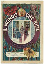 SATIRA-UMORISMO_Il Mondo che Ride - Anno II - N.99_Ed. Aliprandi, 1901* vedi >>>
