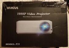 Wimius Model P21 HDMI / USB / VGA 1080P Projector *Missing Some Accessories*