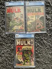 The Incredible Hulk  #4, #5, #6 Lot CGC