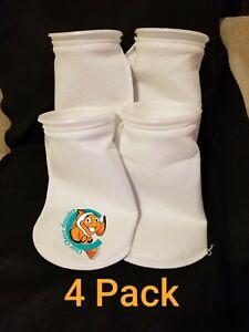 "Four (4) Filter Socks 7"" x 16"" Felt 200 Micron sock Aquarium Reef Wet Dry Sump"
