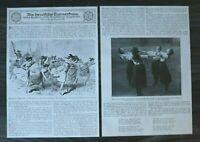LPZ) 2x Blatt 12. Deutsches Turnfest Leipzig 1913 Turnerfrau Frauen Turnen 24x34