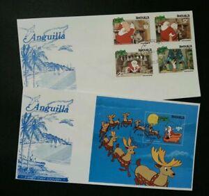 [SJ] Anguilla Walt Disney The Night Before Christmas 1981 Cartoon Santa (FDC)