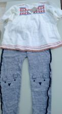 Next girls blouse and jogging bottoms age 5-6 years