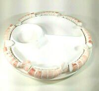 Vintage Shafford Raised Shrimp Serving Platter Appetizer Plate w/Cocktail Forks