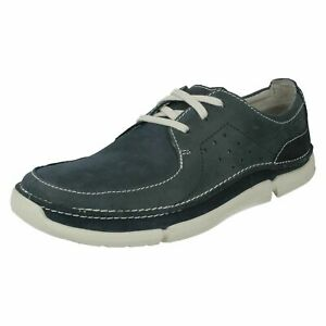 MENS CLARKS TRIKEYON FLY LACE UP LIGHTWEIGHT CASUAL TRAINERS LEATHER SHOES SIZE
