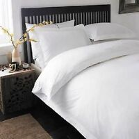 KING WHITE SOLID 3 PIECES DUVET COVER SET 1000 THREAD COUNT 100% EGYPTIAN COTTON