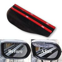 New 2 Pcs Universal Rear View Black Side Mirror Rain Snow Shield For Car Auto CN