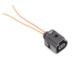2 Pin Pigtail Plug Wiring Connector VW Jetta Golf MK4 MK5 Beetle - 1J0 973 702