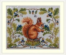 Merejka Counted Cross Stitch Kit on 32 ct evenweave  - The Squirrel