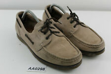 CHURCH'S Antigua 2 Beige Leather Boat Shoes Size 9