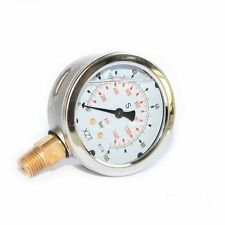 63mm-0-100BAR/1500PSI(NPT1/4) Hydraulic Pressure Gauge Base Entry