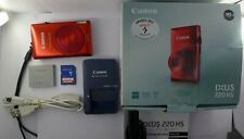 Canon IXUS 220 HS / PowerShot 300 HS 12.1MP Digital Camera + 32 GB Memory Card