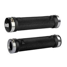 ODI Ruffian Lock-on Grips + Clamps Black/Silver