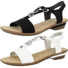 Rieker 63453 Schuhe Damen Sandalen Antistress Sandaletten Riemen Pantoletten