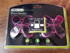 Prolectrix Rosa Flor en Forma de Flor altavoces-conecta iPods, reproductores de MP3, MP4