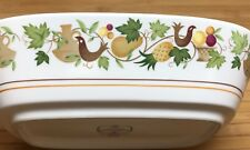 Noritake Progression HOMECOMING 9002 Oval Vegetable Bowl 9.75 in. Birds Fruit