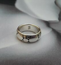 JOHN HARDY SILVER SPINNER ROLLING BAND RING 7