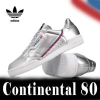 ADIDAS ORIGINALS CONTINENTAL 80 SHOES SNEAKERS RETRO TRAINERS SILVER METALLIC
