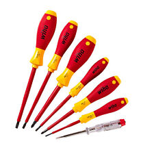 Wiha 7pc Soft Finish Screwdriver Set 1000V VDE Insulated inc Tester XX320NK7