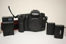 Used Canon EOS 7D Mark II 20.2MP Digital SLR DSLR Camera Body + Extra Battery