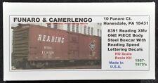 Funaro F&C 8391  READING Boxcar  RDG XMv Speed Lettering 1937-1960s 1-PIECE