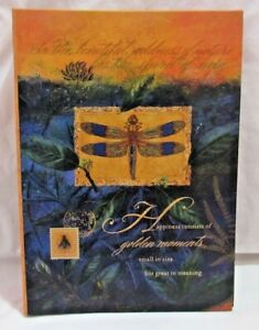 HALLMARK Photo Album, Happiness Consists of Golden Moments... Dragonfly, Stamps