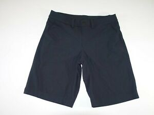 Lululemon Men's Athletic Shorts Size 32 Black Flat Front 100% Polyester