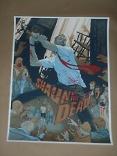 Signed Shaun of the Dead Rich Kelly movie poster art print Mondo Mondotees Alamo