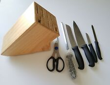 Henckels 7 Piece Knife Set Hardwood Block Hard Wood Zwilling New In Package