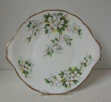 "WHITE DOGWOOD Royal Albert 10"" TAB HANDLED CAKE PLATE Bone China England"