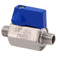 DERNORD Mini Ball Valve Stainless Steel  304 - 1/8 Inch NPT Male &Male