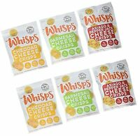 6 Pack Assortment, Cello Whisps Cheese Crisps: Cheddar, Parmesan, Asiago and ...