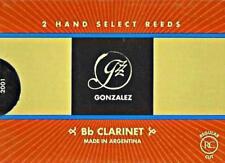 Gonzalez #3.75 Bb Clarinet Reeds (Box of 2 Reeds) BRAND NEW