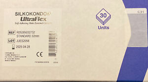 Cateteri Esterni Silkokondom Ultraflex 32 mm Puro Silicone 30 Pezzi