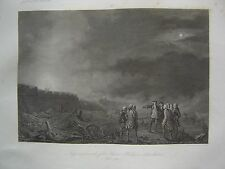 Grande gravure Prise Fort SAINT PHILIPPE Castillo de San Felipe Port Mahon 1756