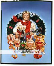 "1970s Original 4x5 Transparency JOHN DENVER ""THE MUPPETS"" Miss PIGGY Christmas"