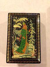 Russia Jewelry Trinket Box Cherypoyka Snow Maiden Rabbit Winter Fairy