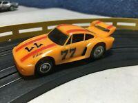 Ideal TCR Total Control Racing #77 Porsche Turbo MK2 HO SLOTLESS SLOT CAR Tested
