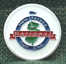 "Limited Edition_ New Jersey National Golf Club  1"" Ni-Silver Plated Ball Marker"
