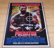 Predator 11X17 Original Movie Poster Schwarzenegger Weathers