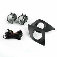 Pair Front Bumper Luz De Niebla w/ Switch+Cover+Bulbs Para Toyota Corolla 14-16,