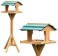 Mangiatoia Casetta Per Riparo Uccelli Volatili In Legno 115x34x34 Con Supporto