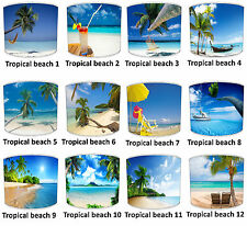 Tropical Beach Lampshades Palm Trees Lampshades Far Away Places Lampshades.
