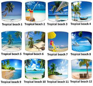 Tropical Beach Palm Trees Far Away Places Lampshades Cushion Bedding Duvet