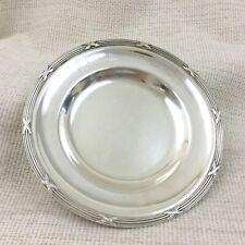 Antico Francese Argento Placcato Rubans Vassoio multifunzione Reed catchall MONETA piatto da tavolo